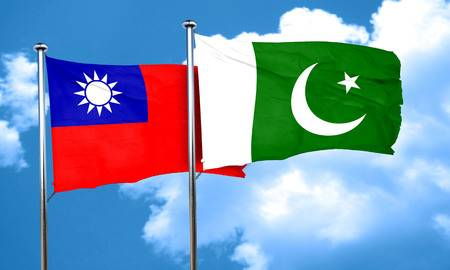 58080949-taiwan-flag-with-pakistan-flag-3d-rendering